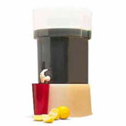 Carlisle 222901 - Beverage Dispenser W/Base, 5-Gallon Capacity, Clear Bowl And Cover, Decals, Brown