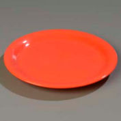 "Carlisle 3300252 - Sierrus™ Dinner Plate, Narrow Rim 10-1/2"", Sunset Orange - Pkg Qty 12"