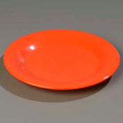 "Carlisle 3301052 - Sierrus™ Dinner Plate, Wide Rim 10-1/2"", Sunset Orange - Pkg Qty 12"