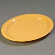 "Carlisle 3308022 - Sierrus™ Oval Platter 13-1/2"" x 10-1/2"", Honey Yellow - Pkg Qty 12"