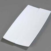 "Carlisle 3332002 - Rave™ Rectangular Platter 10"", White - Pkg Qty 6"
