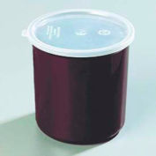 Carlisle 034101 - Poly-Tuf™ Crock W/Lid 1.2 Qt., Brown - Pkg Qty 12