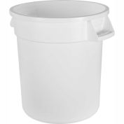 Bronco™ Waste Container 10 Gal - White - Pkg Qty 6