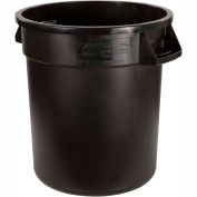 Bronco™ Round Waste Container 10 Gallon - Black 34101003 - Pkg Qty 6