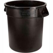 Bronco™ Round Waste Container 10 Gallon - Black 34101003 - Pkg Qty 6