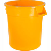 Bronco™ Waste Container 10 Gal - Yellow - Pkg Qty 6