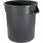 Bronco™ Waste Container 10 Gal - Gray - Pkg Qty 6