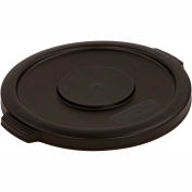 Bronco™ Round Waste Container Lid 10 Gallon - Black 34101103 - Pkg Qty 6
