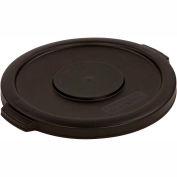 Bronco™ Round Waste Container Lid 10 Gallon - Black 34101103 - Pkg Qty 6