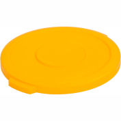 Bronco™ Waste Container Lid 10 Gal. - Yellow - Pkg Qty 6