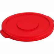 Bronco™ Waste Container Lid 10 Gal. - Red - Pkg Qty 6