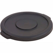 Bronco™ Waste Container Lid 10 Gal. - Grey - Pkg Qty 6