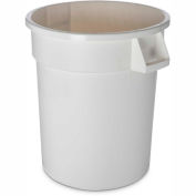 Bronco™ Waste Container 20 Gal - White - Pkg Qty 6