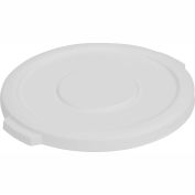 Carlisle Bronco Round Waste Container Lid 20 Gallon, White - 34102102 - Pkg Qty 6