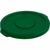 Bronco™ Waste Container Lid 20 Gal - Green - Pkg Qty 6