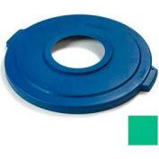 Bronco™ 20 Gal Recycle Lid - Green - Pkg Qty 6