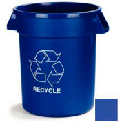 Carlisle Bronco Recycling Waste Container 32 Gallon, Blue - 341032REC14 - Pkg Qty 4