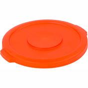 Bronco™ Waste Container Lid 32 Gal - Orange - Pkg Qty 4