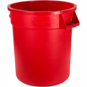 Carlisle Bronco Round Waste Container 44 Gallon, Red - 34104405 - Pkg Qty 3