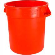 Bronco™ Waste Container 44 Gal - Orange - Pkg Qty 3