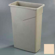 Carlisle TrimLine Rectangle Waste Container 23 Gallon, Beige - 34202306 - Pkg Qty 4