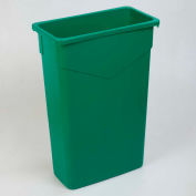 Carlisle TrimLine Rectangle Waste Container 23 Gallon, Green - 34202309 - Pkg Qty 4