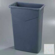 Carlisle TrimLine Rectangle Waste Container 23 Gallon, Gray - 34202323 - Pkg Qty 4