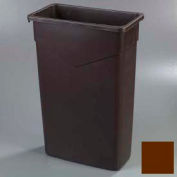 Trimline™ Waste Container 23 Gal - Dark Brown - Pkg Qty 4