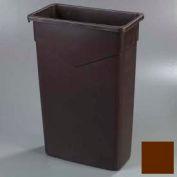 Trimline™ Waste Container 23 Gal - Dark Brown - Pkg Qty 4