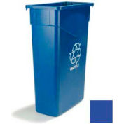 Carlisle TrimLine Rectangle RECYCLE Waste Container 23 Gallon, Blue - 342023REC14