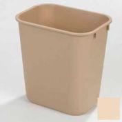 Carlisle Small Rectangle Office Wastebasket Trash Can 13 Quart, Beige - 34291306 - Pkg Qty 12
