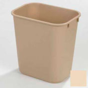 Office Wastebasket 28 Qt - Beige - Pkg Qty 12