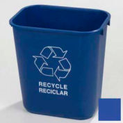 Carlisle Rectangle RECYCLE Office Wastebasket 28-1/8 Qt., Blue - Pkg Qty 24