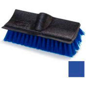 "Flo-Pac® Dual Surface® Poly-P Floor Scrub w/ Rubber Squeegee 10"" - Blue - Pkg Qty 12"