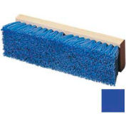 "Flo-Pac® Polypropylene Deck Scrub 10"" - Blue - Pkg Qty 12"
