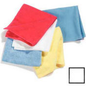 "Terry Microfiber Cleaning Cloth 16"" X 16"" - White - 3633402 - Pkg Qty 12"