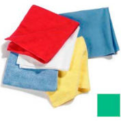 """Terry Microfiber Cleaning Cloth 16"""" X 16"""" - Green - 3633409 - Pkg Qty 12"""