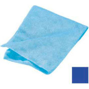 "Terry Microfiber Cleaning Cloth 16"" X 16"" - Blue - 3633414 - Pkg Qty 12"