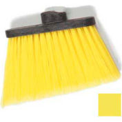 "Duo-Sweep® Medium Duty Angle Broom W/12"" Flare (Head Only) 8"" - Yellow - Pkg Qty 12"