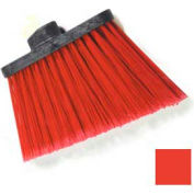 "Duo-Sweep® Medium Duty Angle Broom W/12"" Flare (Head Only) 8"" - Red - Pkg Qty 12"