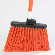 "Duo-Sweep® Medium Duty Angle Broom W/12"" Flare (Head Only) 8"" - Orange - Pkg Qty 12"
