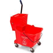 Bucket/Wringer With Side Press Wringer 26-35 qt - Red