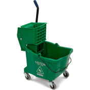 Carlisle Commercial Mop Bucket With Side Press Wringer 35 Qt., Green - 3690409