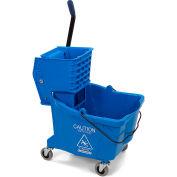 Carlisle Commercial Mop Bucket With Side Press Wringer 35 Qt., Blue - 3690414