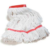 Flo-Pac® Large Looped-End Mop W/Red Band -Synthetic/Cotton Blend - Pkg Qty 12