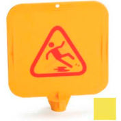 Caution Cones And Barriers, Caution Cone Top Card - Yellow - Pkg Qty 12