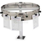 "Carlisle 3812CM - 12 Clip Counter Mount Order Wheel, 14"", Stainless Steel"