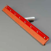 "Flo-Pac® Straight Red Gum Rubber Floor Squeegee -Heavy Duty Steel Frame 24"" - 4007600 - Pkg Qty 6"