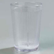 Carlisle 400807 - Crystalon® Stack-All® SAN Tumbler 8.3 Oz., Clear, Ribbed Texture - Pkg Qty 48