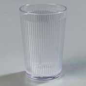 Carlisle 401007 - Crystalon® Stack-All® SAN Tumbler 9-1/2 Oz., Clear, Ribbed Texture - Pkg Qty 48
